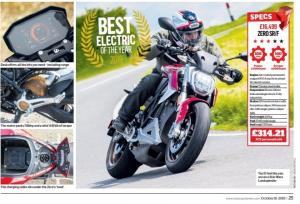 Zero SR / F mejor moto eléctrica en 2019