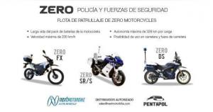 Motos policiales ZERO, por Next & Pentapol